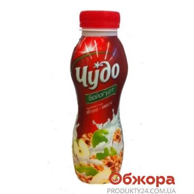 Йогурт Чудо Яблоко-мюсли 2,5% 350 г – ИМ «Обжора»