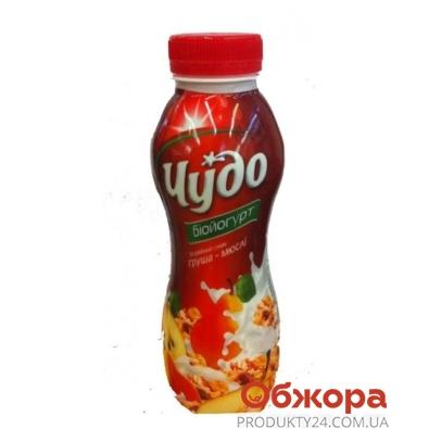 Йогурт Чудо Груша-мюсли 2,5% 350 г – ИМ «Обжора»