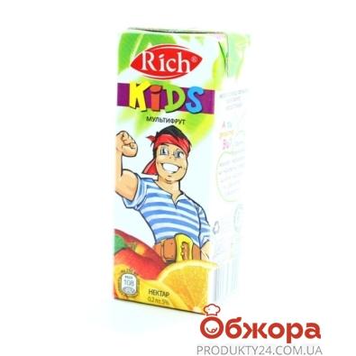Сок Рич (Rich) Kids Мультифрукт 0,2 л – ИМ «Обжора»