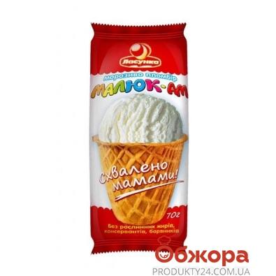 Мороженое Ласунка МАЛЮК-АМ 70 гр. Пломбир в сахарном стакане – ИМ «Обжора»