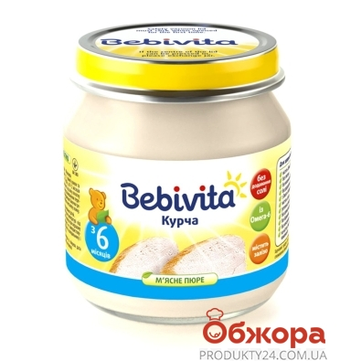 Пюре Бебивита (Bebivita) Курица 100 г – ИМ «Обжора»