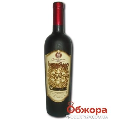 Вино Грузии Кахетинское виноделие Саперави красное сухое 0,75 л – ИМ «Обжора»