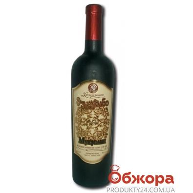 Вино Грузии Кахетинское виноделие Мукузани красное сухое 0,75 л – ИМ «Обжора»