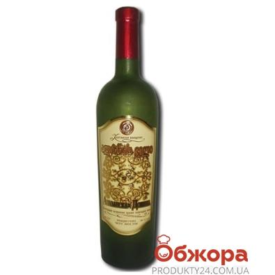 Вино Грузии Кахетинское виноделие Алазанская долина белое полусладкое 0,75 л. – ИМ «Обжора»