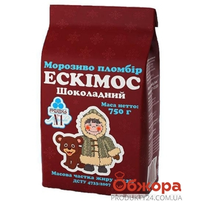 Мороженое Рудь Эскимос шоколад 750 г – ИМ «Обжора»