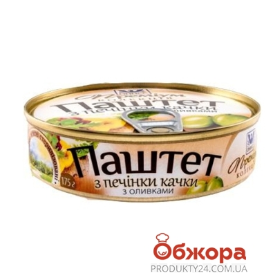 Паштет Онисс печень утки с оливками 175 гр. – ИМ «Обжора»