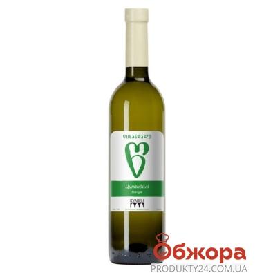 Вино Грузии Кварели (Kvareli) Цинандали белое сухое 0,75 л – ИМ «Обжора»