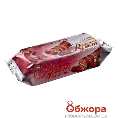 Рулет ХБФ 205г клубника/сливки – ИМ «Обжора»