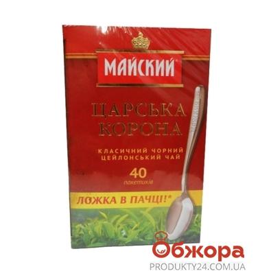 Чай Майский Царская корона 80 г + ложка в подарок – ИМ «Обжора»