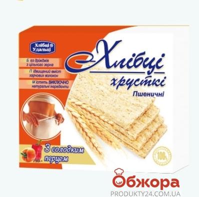 Хлебцы Удальцы 100г пшеничные сладкий перец – ИМ «Обжора»