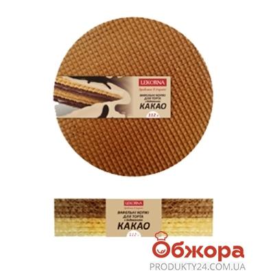 Вафельные изделия  Лекорна коржи какао 112 г – ИМ «Обжора»