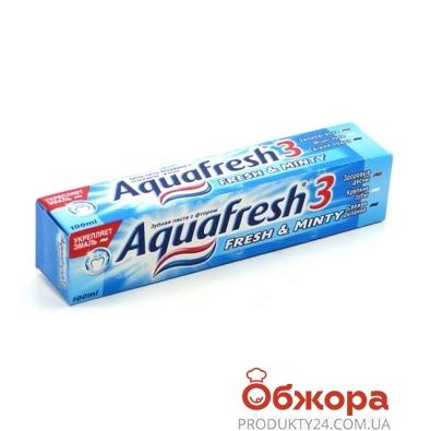 Зубная паста Аквафреш (Aquafresh) Освежающая Мята 100 мл. – ИМ «Обжора»