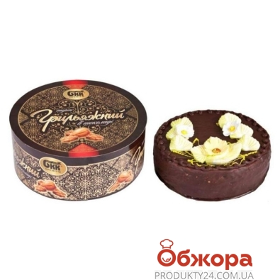 Торт БКК(Булочно-кондитерский комбинат) Грильяжный в глазури 1 кг – ИМ «Обжора»
