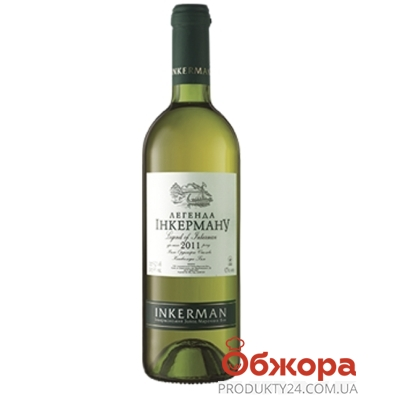 Вино Инкерман (INKERMAN) Легенда Инкермана белое полусладкое 0,75 л. – ИМ «Обжора»