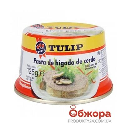 Консервы Тулип (Tulip) паштет печеночный с грибами,125 гр. – ИМ «Обжора»