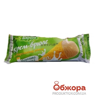 Мороженое Белая Береза крем-брюле рожок 80 г – ИМ «Обжора»