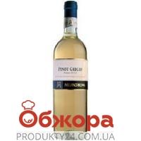 Вино Конфини (Confini) Пино Гриджио белое сухое 0,75 л – ИМ «Обжора»