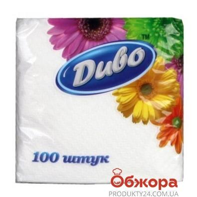 Салфетки  Диво 25 х 25 белые 100 шт. – ИМ «Обжора»