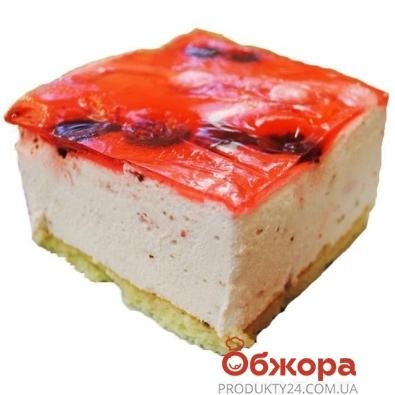 Торт Клубнично-вишневый фреш вес – ИМ «Обжора»