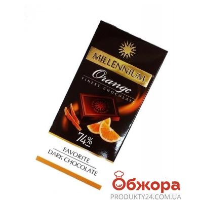 Шоколад Миллениум (Millennium) Favorite черный брют 74% какао апельсин 100 г – ИМ «Обжора»