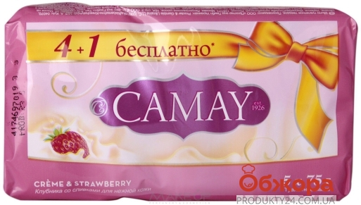 Мыло  Камей (CAMAY) крем Strawberry 5*75 гр. – ИМ «Обжора»