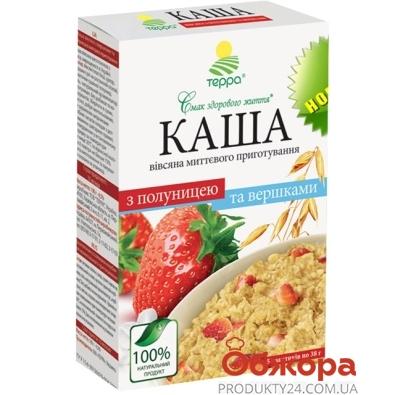 Каша овсяная Терра клубника/сливки  5*38г – ИМ «Обжора»