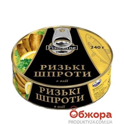 Консерва Фиш Лайн (Fish Line) шпроты рижские 240 гр. ключ – ИМ «Обжора»