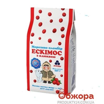 Мороженое Рудь Эскимос с клюквой 450 гр. – ИМ «Обжора»