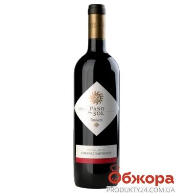 Вино Пасо Дель Соль (Paso Del Sol) Каберне Совиньон красное сухое 0,75 л – ИМ «Обжора»