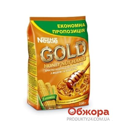 Хлопья Нестле (Nestle) Голд Флейкс Мед 250 г – ИМ «Обжора»