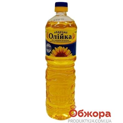 Подсолнечное масло Олийка нерафинированное 1 л – ИМ «Обжора»