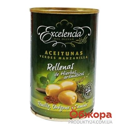 Оливки Экцеленсия (Excelencia) 314 гр. травы  б/к – ИМ «Обжора»