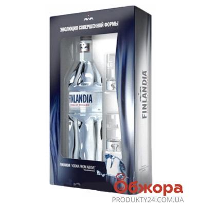 Набор водка Финляндия (Finlandia) 0,7л + 2 рюмки – ИМ «Обжора»