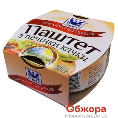Паштет Онисс печень утки ж/б 100 гр. – ИМ «Обжора»