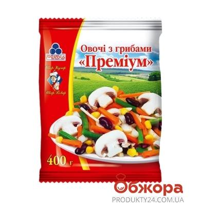 Овощи Рудь с грибами замороженные Премиум 400 г – ИМ «Обжора»