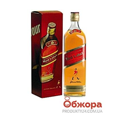 Виски Джонни Уокер (Johnnie Walker) красный 0.35л 40% – ИМ «Обжора»
