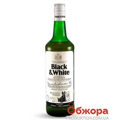 Віскі Black&White 700 мл – ІМ «Обжора»