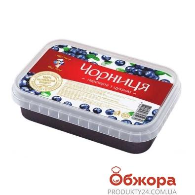 Замороженная черника Рудь перетёртая с сахаром 250 г – ИМ «Обжора»