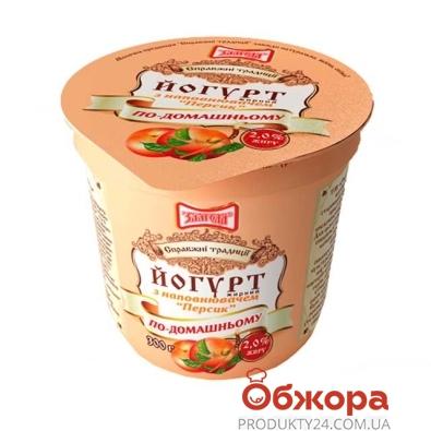 Йогурт Злагода Персик 2,5% 300 г – ИМ «Обжора»