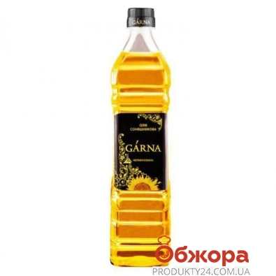 Подсолнечное масло Гарна (Garna) нерафинированое 780 мл – ИМ «Обжора»