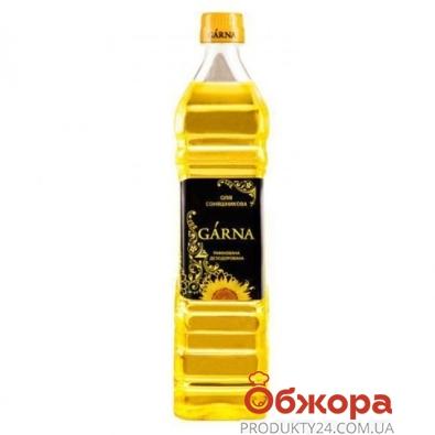 Подсолнечное масло Гарна (Garna) рафинированное 0.85 л – ИМ «Обжора»