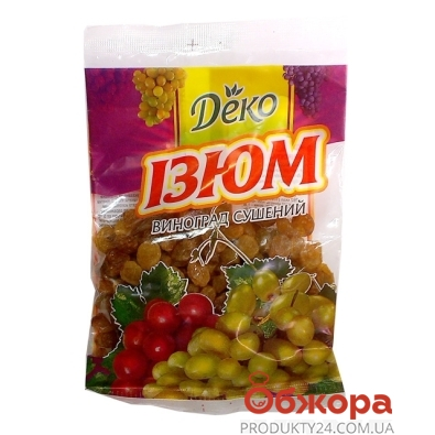 Изюм Деко светлый 80 г – ИМ «Обжора»