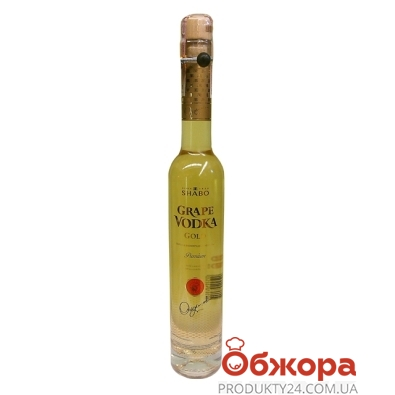 Водка Шабо (Shabo) виноградная Grape Vodka 0.375л. Голд – ИМ «Обжора»