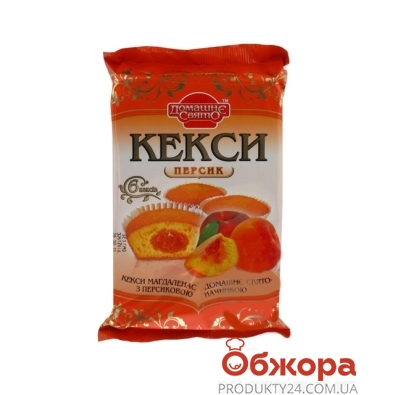 Кекс Домашнее Свято персик  210 г – ИМ «Обжора»