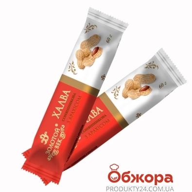 Халва Золотой Век с арахисом 60 г – ИМ «Обжора»