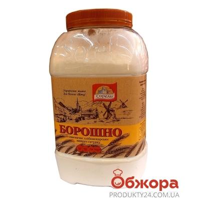Мука Сорель банка пшеничная  1,6 кг в/с – ИМ «Обжора»