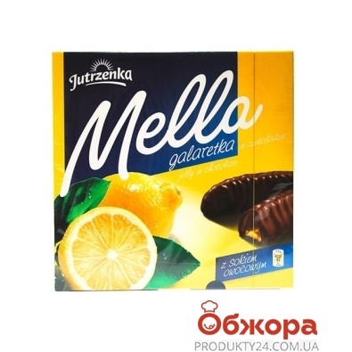 Мармелад Мелла (Mella) лимон в черном шоколаде 190 г – ИМ «Обжора»