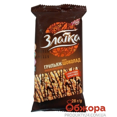 Грильяж Жайвир Златка Шоколад 28 г – ИМ «Обжора»