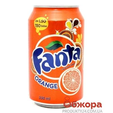 Вода Фанта (Fanta) апельсин 0,33 л – ИМ «Обжора»