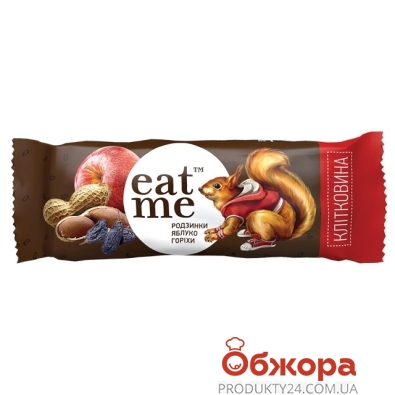 Батончик ИтМи (EatMe) изюм яблоко орехи в шоколаде 30 г – ИМ «Обжора»